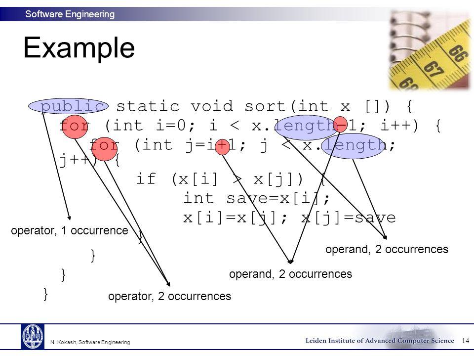 Example public static void sort(int x []) {